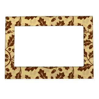 Oak leaf acorn background magnetic frame