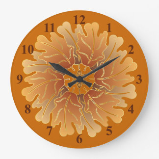 Oak Leaf and Acorn Rosette Large Clock