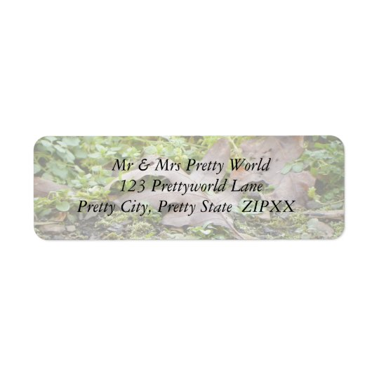 Oak Leaf and Chickweed Return Address Label