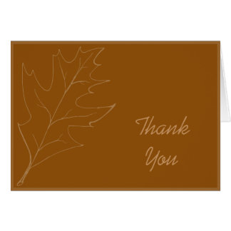 Oak Leaf Bridesmaid Thank You Note Card