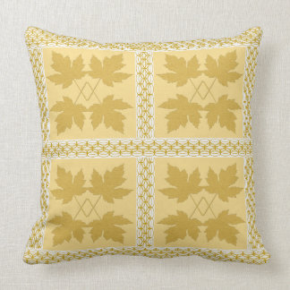 Oak Leaf Gold White Nature Popular Pillows