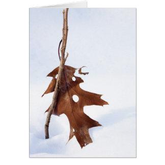 Oak Leaf Greeting Card