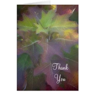 Oak Leaf Hydrangea Thank You Note Card
