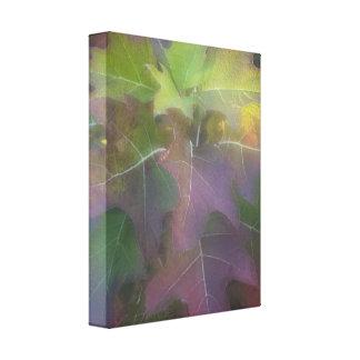 Oak Leaf Hydrangea Wrapped Canvas Print