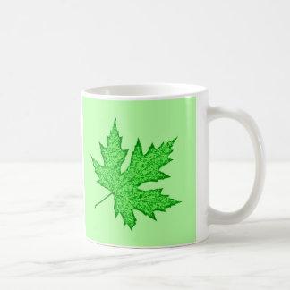 Oak leaf - shades of green mugs
