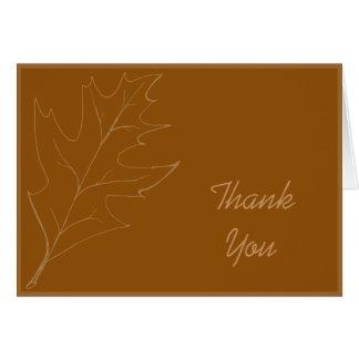 Oak Leaf Thank You Note Card