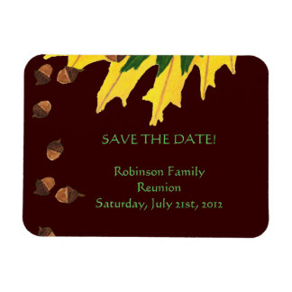 Oak Leaves and Acorn Family Reunion Save the Date Magnet