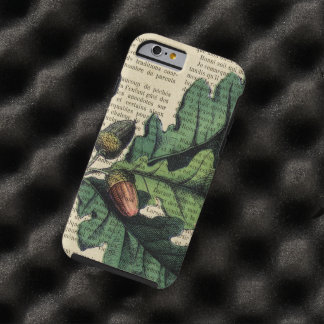 Oak Leaves French Page Tough iPhone 6 Case