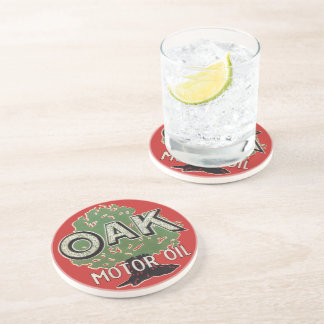 Oak Motor Oil Drink Coasters