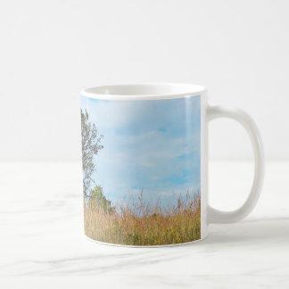 Oak Tree and Tall Grass Prairie Coffee Mug