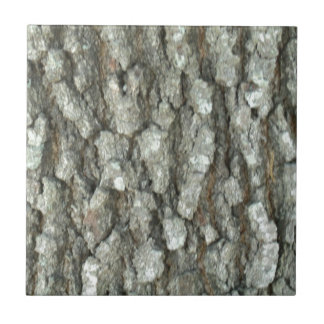 Oak Tree Bark Real Wood Camo Nature Camouflage Small Square Tile