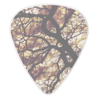 Oak Tree White Delrin Guitar Pick