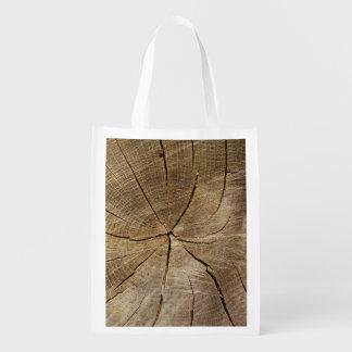Oak Tree Cross Section Reusable Bag