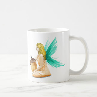 Oak Tree Fairy holding Acorn Coffee Mug