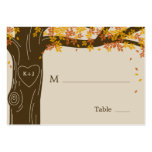 Oak Tree Fall Wedding Flat Place Cards