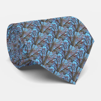 Oak Tree in a Blue Autumn Sky - ECHO PRINT Tie