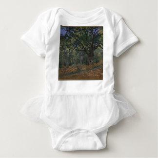 Oak tree in the forest baby bodysuit