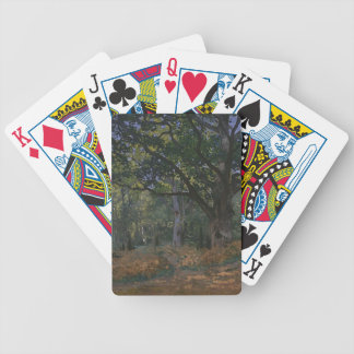 Oak tree in the forest bicycle playing cards