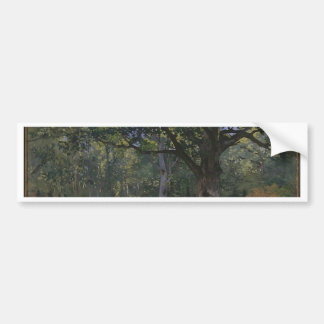 Oak tree in the forest bumper sticker