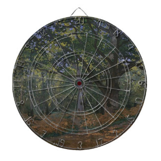 Oak tree in the forest dartboard