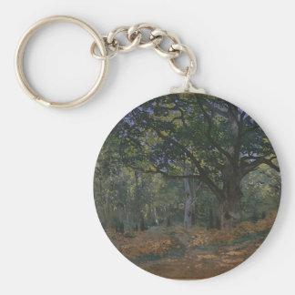 Oak tree in the forest key ring