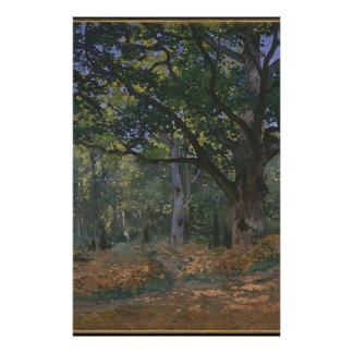 Oak tree in the forest stationery