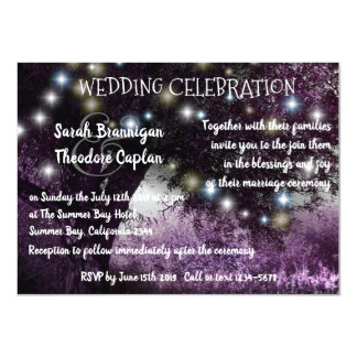 Oak Tree night lights wedding Card