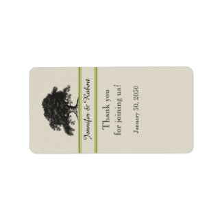 Oak Tree Plantation in Gree Wedding Lip Balm Label Address Label