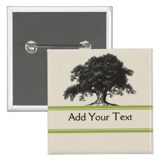 Oak Tree Plantation in Green 15 Cm Square Badge