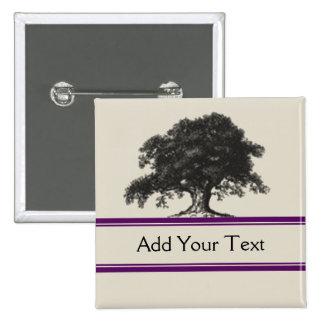 Oak Tree Plantation in Purple 15 Cm Square Badge