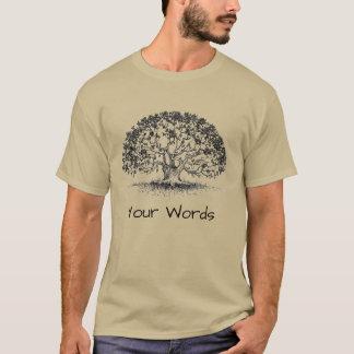 Oak Tree, Sanskrit, and Dorje T-Shirt