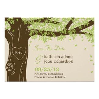 Oak Tree Save The Date Card Invite