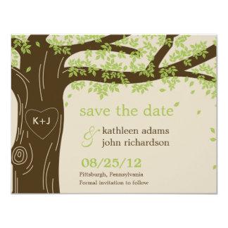 Oak Tree Save The Date Card 11 Cm X 14 Cm Invitation Card