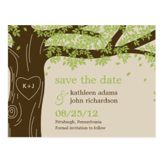 Oak Tree Save The Date Postcard