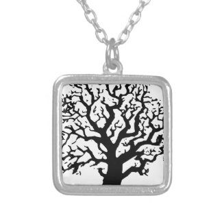 Oak Tree Silver Plated Necklace