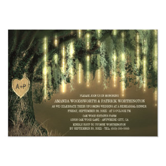 Oak Tree Spanish Moss Rehearsal Dinner Invitations