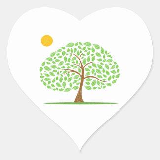 oak tree sun scribbled ecology design.png sticker
