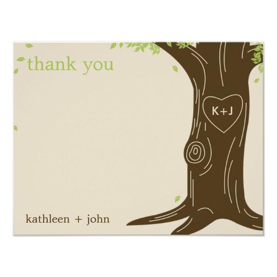 Oak Tree Thank You Card 11 Cm X 14 Cm Invitation Card