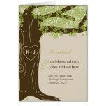 Oak Tree Wedding Program Card