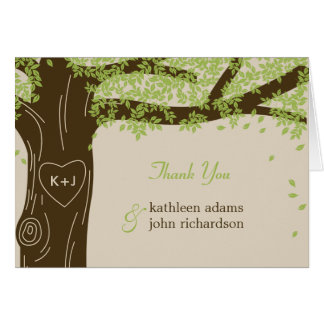 Oak Tree Wedding Thank You Note Cards
