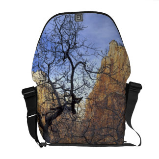 Oak trees in winter, Court of the Patriarchs Messenger Bag