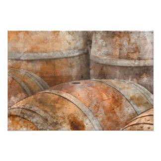 Oak Wine Barrel Photo Print