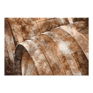 Oak Wine Barrel Photographic Print