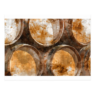 Oak Wine Barrel Postcard