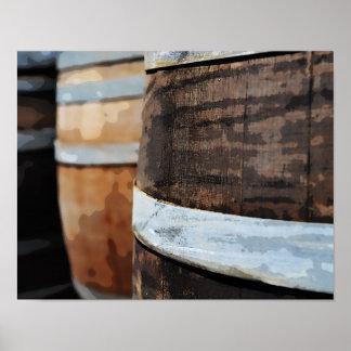 Oak Wine Barrel Poster