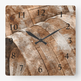 Oak Wine Barrel Wine Time Clock