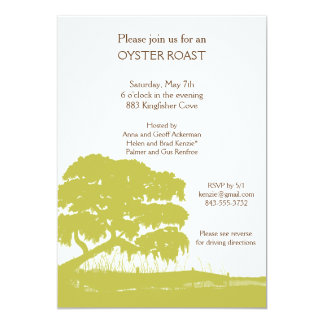 Oak with Spanish Moss by the Marsh Invite Vertical