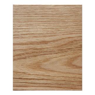 Oak Wood Grain Look 11.5 Cm X 14 Cm Flyer