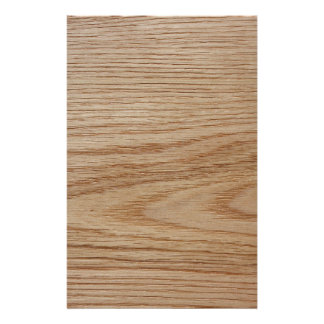 Oak Wood Grain Look Personalized Flyer