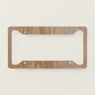 Oak Wood Grain Look Licence Plate Frame
